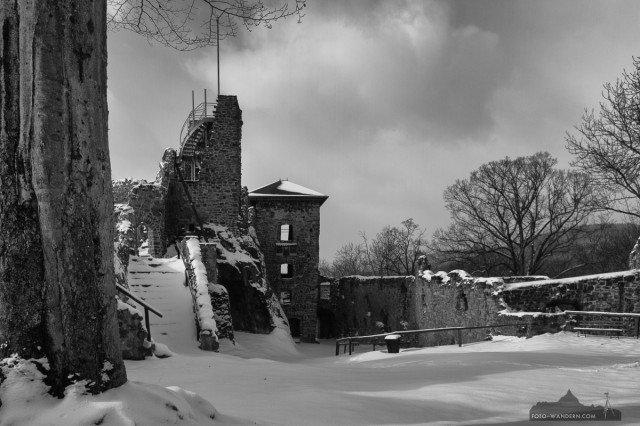 Winter auf der Burgruine Hohnstein © Andreas Levi