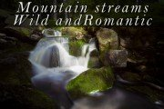 Mountain streams wild and romantic