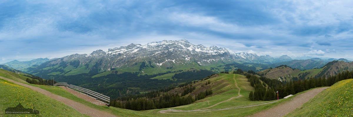 Saentisblick vom Kronberg, Appenzellerland, Schweiz