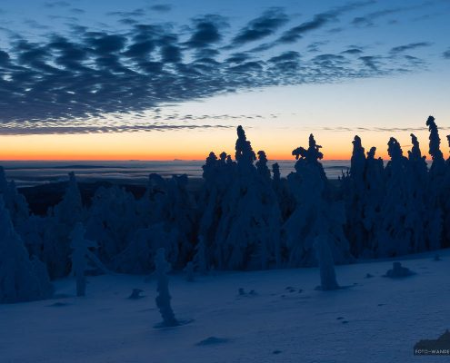 Landschaftsfotografie - Sonnenaufgang im Winter auf dem Brocken im Harz