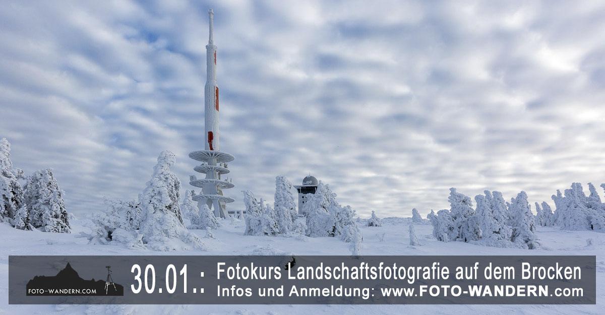 Fotokurs Landschaftsfotografie auf dem Brocken - 2017-01-30
