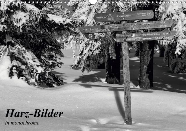 Kalender Harz-Bilder in monochrome