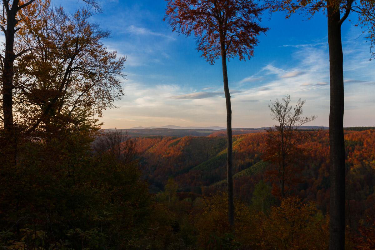 Brockenblick im Südharz