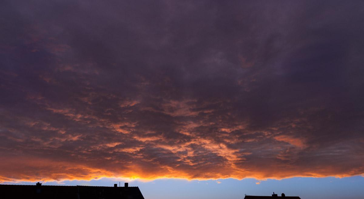 Sonnenaufgang im Südharz