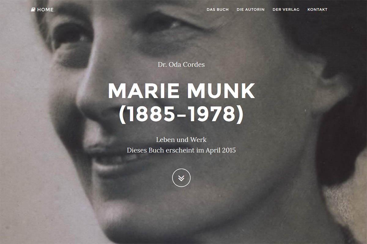 Landingpage Marie Munk - Dr. Oda Cordes