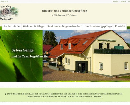"""Haus """"Zur alten Papiermühle"""""""