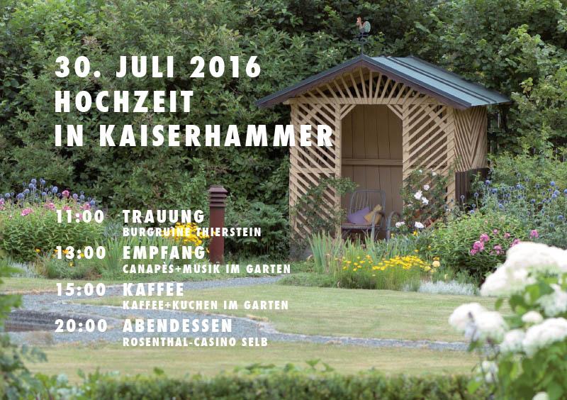 Hochzeit in Kaiserhammer