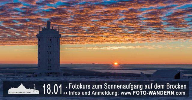 Fotokurs zum Sonnenaufgang auf dem Brocken
