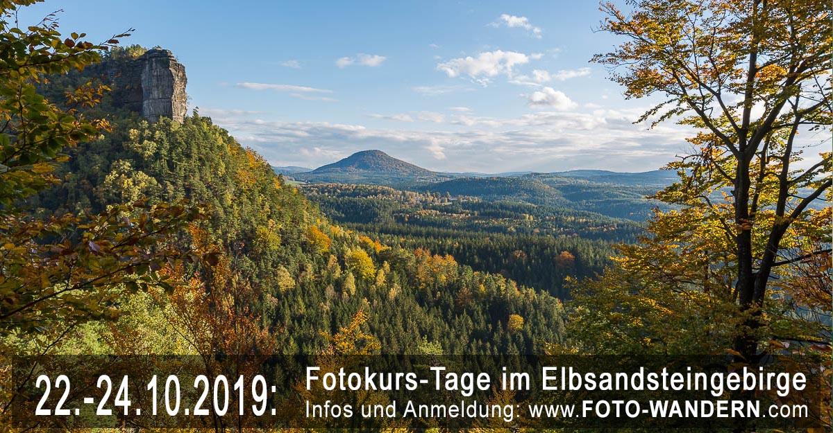 Fotokurs-Tage im Elbsandsteingebirge- Oktober 2019