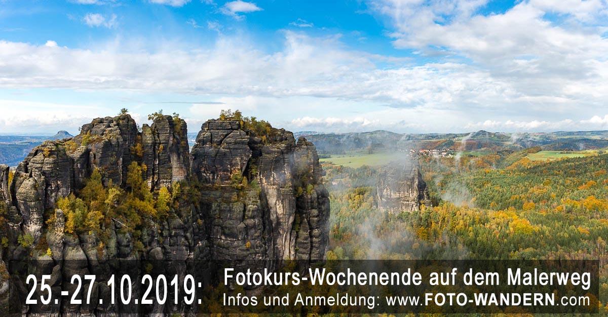 Fotokurs-Wochenende auf dem Malerweg - Oktober 2019