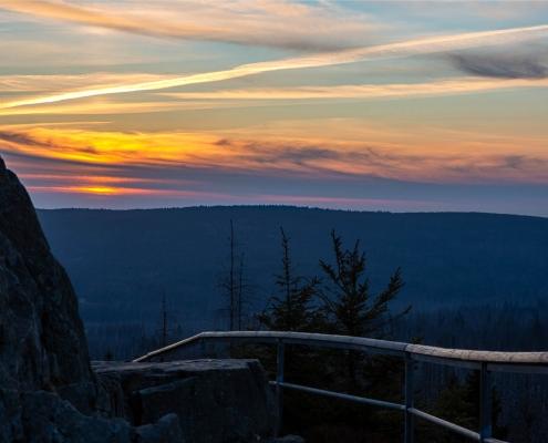 Wanderung zum Sonnenuntergang im Harz