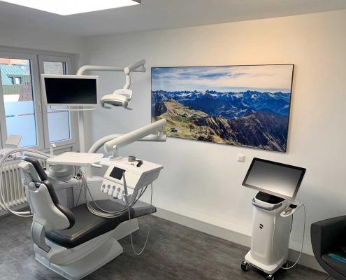 Allgaeuer Alpen in der Zahnarztpraxis