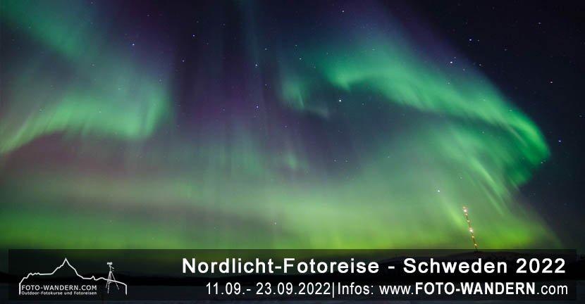 Nordlicht-Fotoreise Schweden 2022